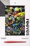 Reeves Kratzbild, Schmetterling bunt  (20 x 25 cm)