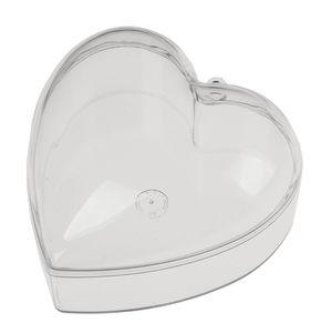 Caja de plástico transparente Corazón (100 mm)