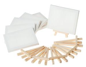 Mini schildersezels en canvasdoeken, 12-delig