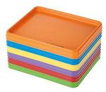 Acrilico - set di 12 vassoi, colori assortiti