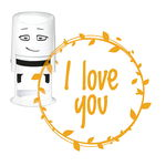 Motivo para estampar NIO® (40 mm) I love you