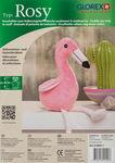 Knuffeldier Flamingo Rosy om nog zelf te vullen