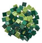 Mosaik Eis opak/irisierend, 200 g grün-mix