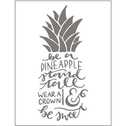 embossing template pineapple opitec
