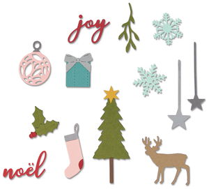 Sizzix® Thinlits[TM] Die 16pk - Festive Set