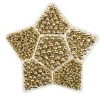 Metallic-Perlenbox Stern, goldfarben (125x125 mm)