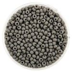 Rocailles opak (2,6 mm), 17 g grau matt