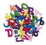 Houten letters om te rijgen, kleurrijk, 50 stuks