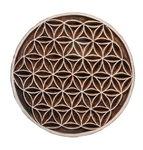 Houten stempel 'Levensbloem', 13 cm