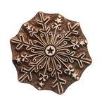 Blockstempel Holz - Schneekristall (10 cm)