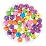 Alfabeto di perline, vari colori/nero, ca. 230 pz