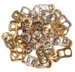 Anneaux boîte de conserve, 50 pièces doré