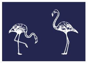 Siebdruck-Schablone Flamingos, Din A5 + Rakel
