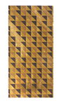 Wachsplatte Karos gold/schwarz (20x10cm)