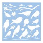 Schablone Vögel (30,5 x 30,5 cm)