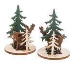 Parti di legno da incastrare - bosco,  12 parti