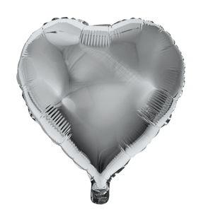 Folienballon, Herz silber (46 x 49 cm)