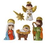 Resina - Santa Famiglia con angelo, con calamita