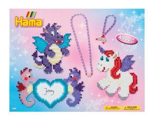 Hama® conf. regalo perline da stiro - draghetti