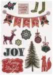 Sticker 3D Christmas, 14 Stück