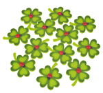 Felt Deco 'Clover Leaf with Ladybird', 12 pieces