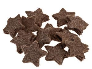 Miniature di feltro - stellette, 48 pezzi/ marrone