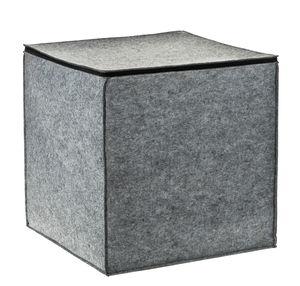 Cubo custodia di feltro con cerniera, 1 pezzo