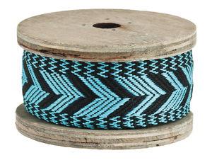 Decoratieband 'Ethno', 2 m, zwart/blauw