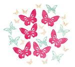 Houten strooidelen 'Vlinders', 3 kleuren, 24 stuks