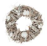 Kranz mit Eiern, natur/weiß/grau (25 x 7,5 cm)