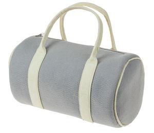 Borsa di feltro a cilindro, grigio/crema