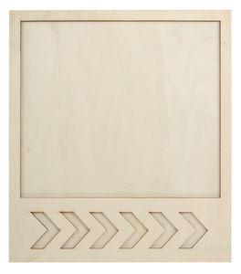 Marco de madera, (30 x 34 cm), en dos piezas