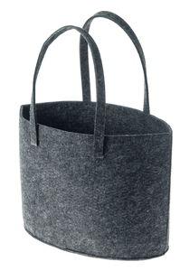 Vilten tas met 2 hengsels, antraciet