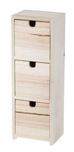 Holzkommode mit 3 Schubladen (12 x 9,5 x 35 cm)