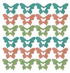 Houten strooidelen 'Vlinder' (30 mm) 24 stuks