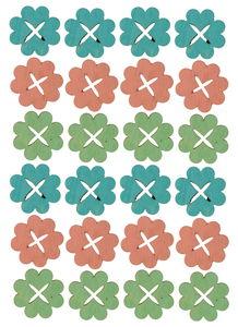 Elementos para dispersar - Flores, 24 ud.