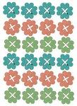 Miniature di legno - fiori, assortimento 24 p