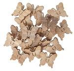 Streuteile Holz, 18 Stück Schmetterling m. Klebep.