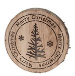Decorazione di legno con LED - Merry Chrismas