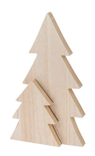 Holz Tannenbaum 2 Tlg Natur 23 X 40 X 2 5 Cm Opitec