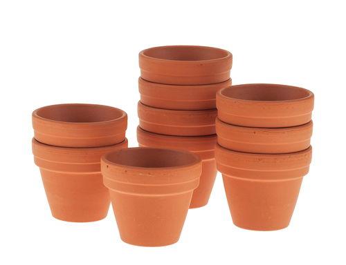 Vasetti di terracotta 30x35 mm 10 pezzi opitec for Vasi in terracotta on line