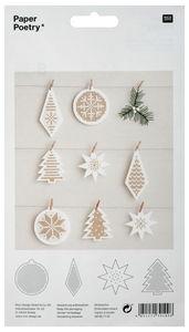 Cartons à broder - Set de Noël, Conte...,