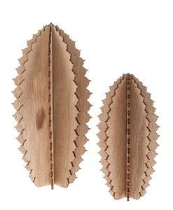 Holz-Kaktus zum Zusammenstecken, 2er-Set (15/20cm)