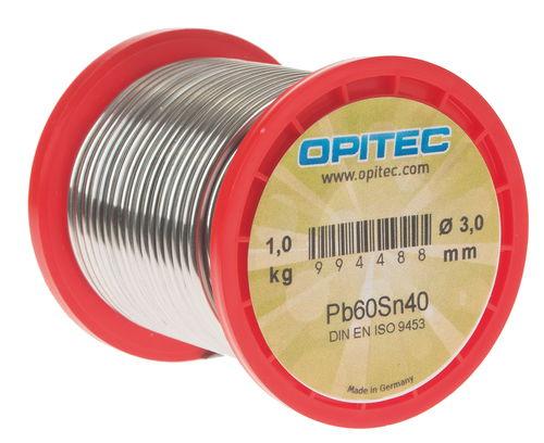 OPITEC Lötdraht Pb60Sn40, 1 kg Spule - Opitec