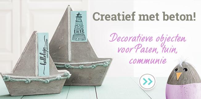 Creatief met beton! Decoratieve objecten voor Pasen, tuin, communie