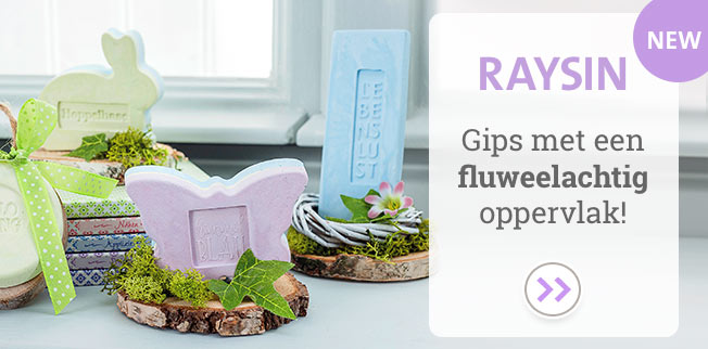 What a feeling! Raysin - Gips met een fluweelachtig oppervlak!