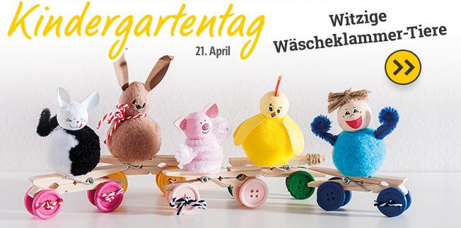 Kindergartentag - witzige Wäscheklammer gestalten