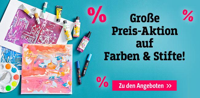 Große Preis-Aktion auf Farben & Stifte!