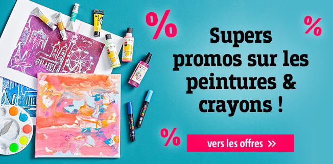 Supers promos sur les peintures & crayons !