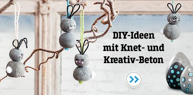 DIY-Ideen mit Knet- und Kreativ-Beton